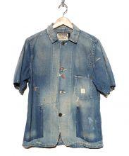 anachronorm(アナクロノーム)の古着「半袖オーバーオール」|ブルー