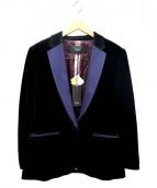 Paul Smith BLACK(ポールスミスブラック)の古着「ベロアジャケット」|ブラック