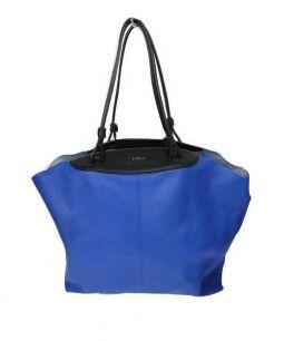 FURLA(フルラ)の古着「トートバッグ」|ブルー×ブラック