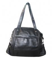 agnes b(アニエスベー)の古着「スタッズレザートートバッグ」|ブラック