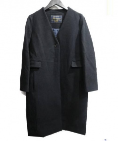 SLOBE IENA(スローブ イエナ)の古着「Vネックノーカラーコート」 ブラック