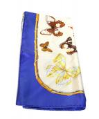 HERMES(エルメス)の古着「シルクスカーフ」|ブルー