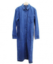 MARNI(マルニ)の古着「デニムロングシャツワンピース」|インディゴ