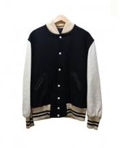 SKOOKUM(スクーカム)の古着「スタジャン」|ブラック×ホワイト