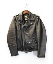 Mastermind JAPAN×Schott(マスターマインドジャパン×ショット)の古着「ワンスターライダースジャケット」|ブラック