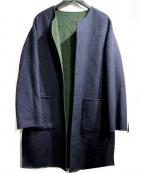 khaju(カージュ)の古着「リバーシブルコート」|ネイビー×グリーン