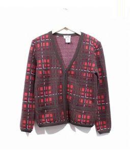 VINTAGE HERMES(エルメス)の古着「ジップカーディガン」|ブラウン