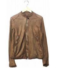 SISII(シシ)の古着「レザーライダースジャケット」|ブラウン