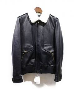 COMMUNE de PARIS(コミューン ドゥ パリ)の古着「EDGARD-Cライダースジャケット」|ネイビー