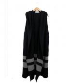 PLAIN PEOPLE(プレインピープル)の古着「圧縮ウールニットジレ」|ブラック