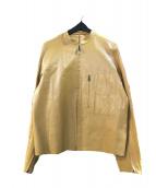 SABI SABI DELUXE(サビサビデラックス)の古着「レザージャケット」|キャメル