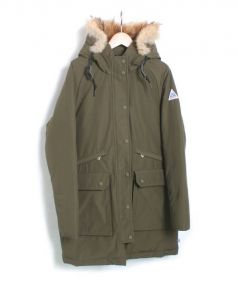 CAPE HEIGHTS(ケープハイツ)の古着「コヨーテファー付ダウンコート」|オリーブ