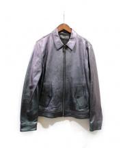 NEIL BARRETT(ニールバレット)の古着「メタリックレザージャケット」 グレー