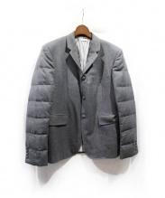 THOM BROWNE(トム ブラウン)の古着「ダウンスリーブテーラードジャケット」 グレー