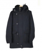 LOUNGE LIZARD(ラウンジリザード)の古着「W CLOTH MELTON HOODED COAT」|ブラック