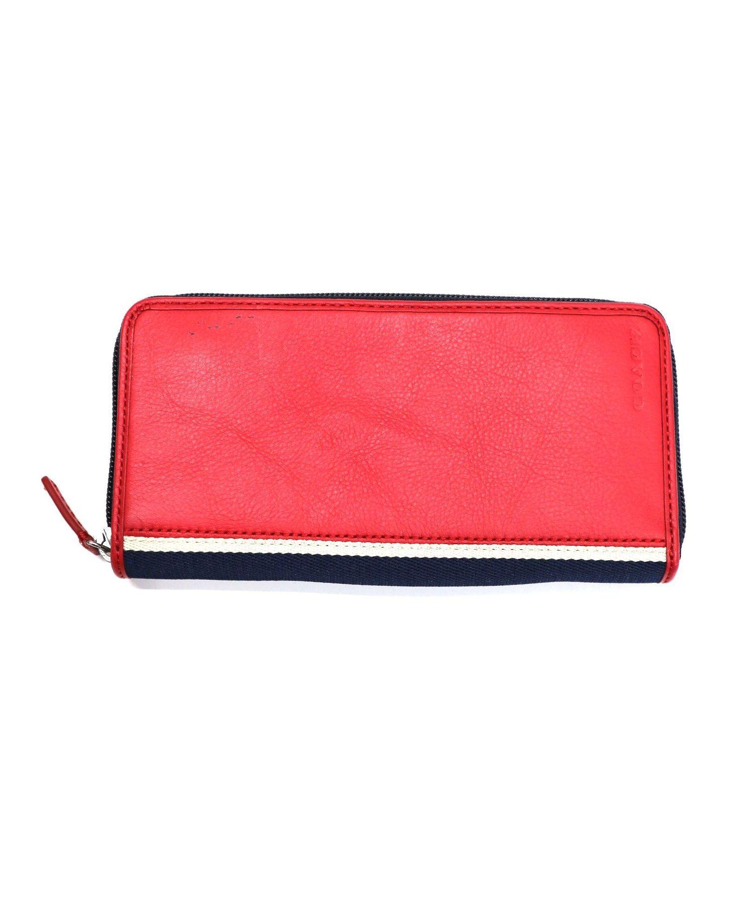 brand new fa6e4 772ef [中古]COACH(コーチ)のレディース 服飾小物 ラウンドファスナー長財布