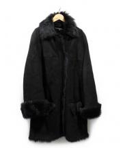 GUCCI(グッチ)の古着「ムートンコート」|ブラック