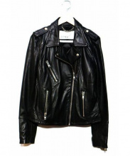 DOMA(ドマ)の古着「ラムレザーライダースジャケット」|ブラック