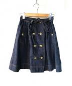 BLUE LABEL CRESTBRIDGE(ブルーレーベル クリストブリッジ)の古着「ライトスラブデニムスカート」|インディゴ