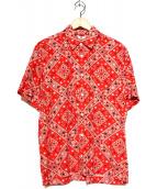 soe(ソーイ)の古着「バンダナ柄半袖シャツ」 レッド