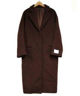 Mila Owen(ミラ オーウェン)の古着「バックベルトチェスターコート」|ブラウン