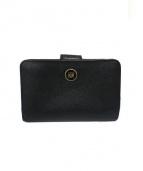 LOEWE(ロエベ)の古着「ロゴクリップ2つ折り財布」|ブラック