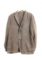 BOGLIOLI(ボリオリ)の古着「製品染めリネンテーラードジャケット」