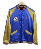 ROTAR(ロータ)の古着「スーベニアジャケット」 ブルー×レッド