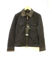 ISAMU KATAYAMA BACKLASH(イサムカタヤマバックラッシュ)の古着「加工デニムジャケット」|ブラック