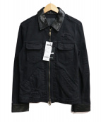 ISAMU KATAYAMA BACKLASH(イサムカタヤマ・バックラッシュ)の古着「加工デニムジャケット」|ブラック