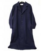 ARMEN(アーメン)の古着「プレーンウールテーラードカラーコート」|ネイビー