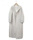 TOMORROWLAND(トゥモローランド)の古着「レーヨンリネンカルゼノーカラーコート」|アイボリー