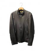 RUDE GALLERY BLACK REBEL(ルードギャラリーブラックレーベル)の古着「ARROW LEATHER JACKET」 ブラック