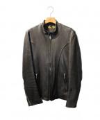 RUDE GALLERY BLACK REBEL(ルードギャラリー ブラックレーベル)の古着「ARROW LEATHER JACKET」 ブラック