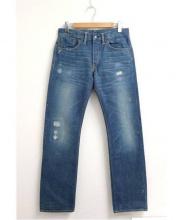 RRL(ダブル アールエル)の古着「リペア加工デニムパンツ」|ブルー