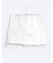 MADISON BLUE(マディソンブルー)の古着「5ポケットデニムミニスカート」|ホワイト