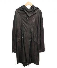 Raw+(ロウタス)の古着「ゴートスキンモッズコート」|ブラック