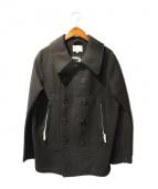 VISVIM x Harris Tweed(ビズビム x ハリスツイード)の古着「ハリスツィードPコート」|ブラック