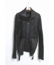 L.G.B(ルグランブルー)の古着「コーティングボアブルゾン」|ブラック