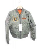 AVIREX(アヴィレックス)の古着「SUKA MA-1ジャケット」|オリーブ