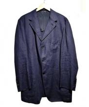 Cantarelli(カンタレリ)の古着「リネン3Bジャケット」|ネイビー