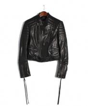 HAIDER ACKERMANN(ハイダーアッカーマン)の古着「レザーライダースジャケット」|ブラック