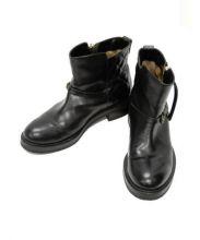 BUTTERO(ブッテロ)の古着「ショートブーツ」 ブラック