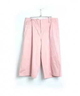 NOZOMI ISHIGURO(ノゾミイシグロ)の古着「ワイドパンツ」|ピンク