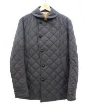 EDIFICE(エディフィス)の古着「サキソニーカラーショールカラーキルティングジャケット」|グレー