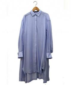 kei shirahata(ケイ シラハタ)の古着「シャツドレス」|ライトブルー