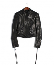 HAIDER ACKERMANN(ハイダーアッカーマン)の古着「レザーライダースジャケット」|BLACK