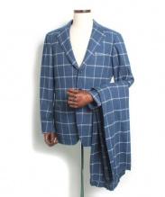 RING JACKET(リングヂャケット)の古着「ウールセットアップスーツ」 ネイビー