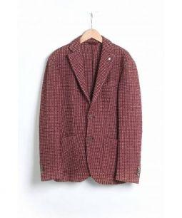 L.B.M.1911(エルビーエム1911)の古着「ニットアンコンジャケット」|ボルドー