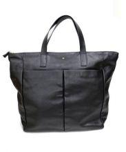 ANYA HINDMARCH(アニヤ・ハインドマーチ)の古着「レザートートバッグ」|ブラック